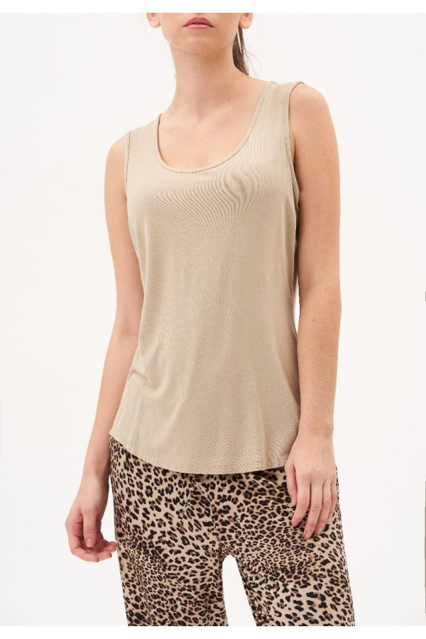 UP Womens Top 30188-Beige/Champagne-S