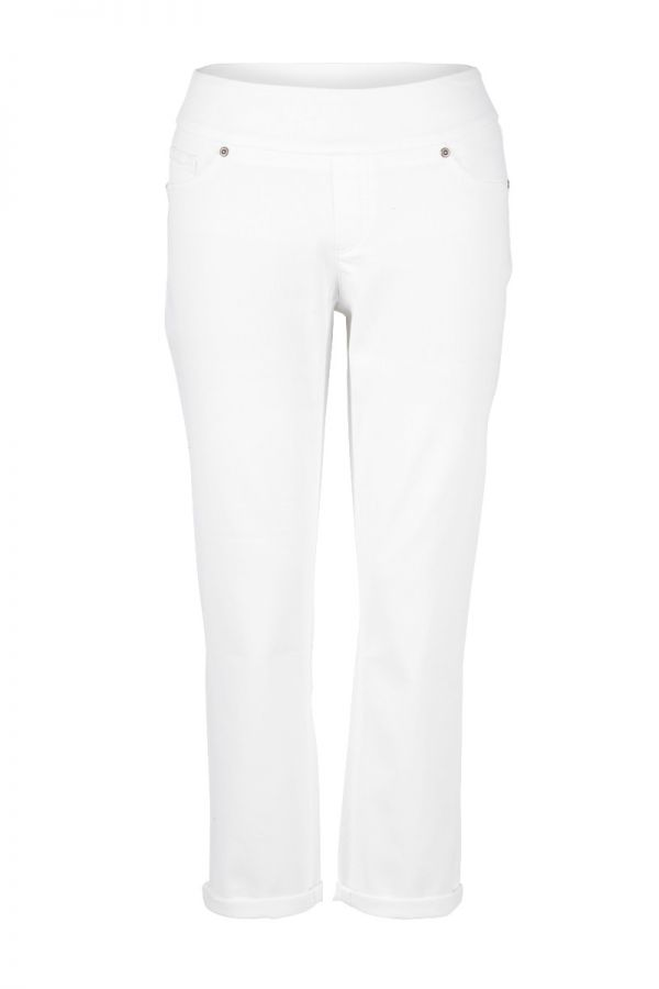 "UP Womens Crop 25"" Pants 65759-White-2"