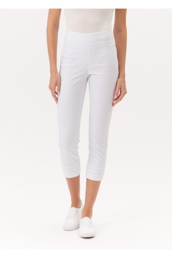 "UP Womens Techno 25"" Crops 67166-White-0"