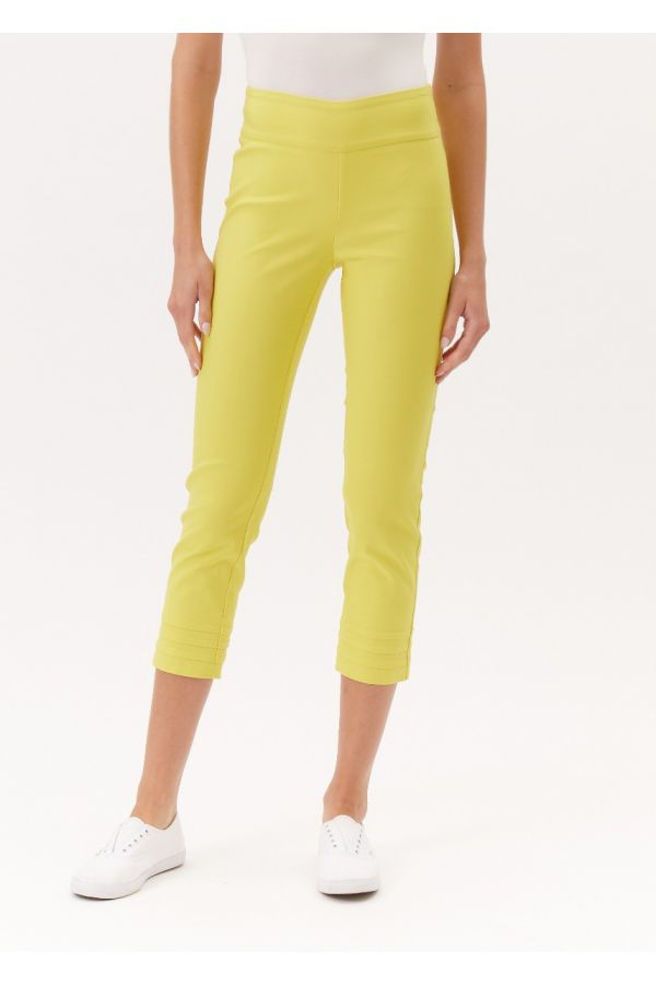 """UP Womens Techno 25"""" Crops 67166-Yellow-2"""