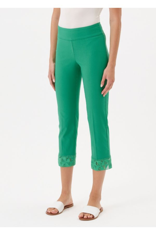"""UP Womens Techno 25"""" Crops 67251-Green-2"""